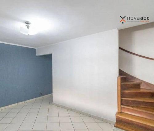 Imagem 1 de 11 de Sobrado Com 2 Dormitórios À Venda, 114 M² Por R$ 410.000 - Vila Homero Thon - Santo André/sp - So1090