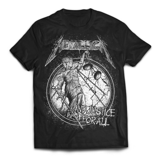 Camiseta Metallica Justice For All Rock Activity