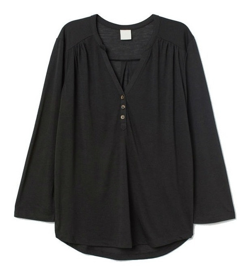 Camisa Remera H&m Mujer Nueva Importada Con Etiqueta Xs