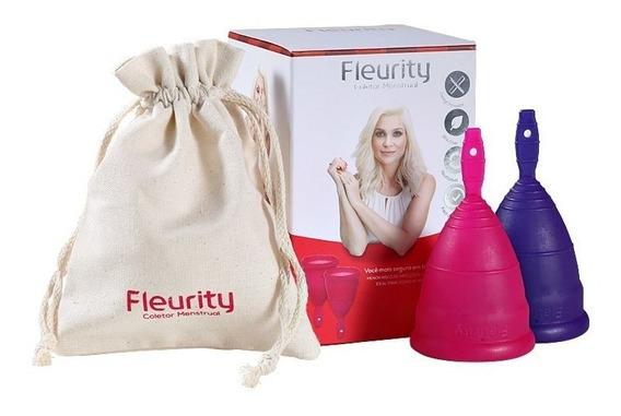 Coletor Menstrual, Fleurity, Tipo 1 + Brinde - 2 Unid.
