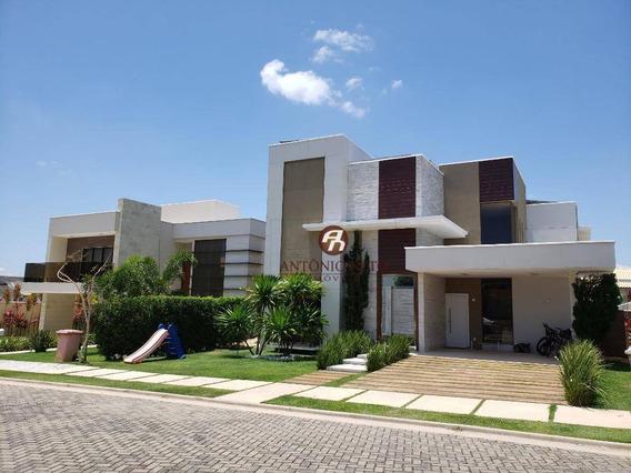 Casa Duplex De Luxo Com Acabamento E Mobília Em Alto Padrão Á Venda No Alphaville Eusébio.. A Venda Em (porteira Fechada) - Ca0170