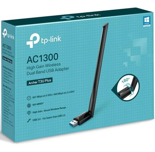 Adaptador Tp Link Wireless Archer T3u Plus Ac1300 Usb3.0 Mac