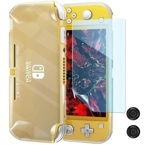 Kit 3 In 1 Case Capa Nintendo Switch Lite + Pelicula + Grip