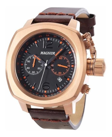 Relógio Magnum Masculino Cronógrafo Ma34129p Rosê Marrom