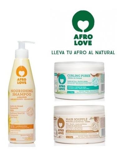 Kit Afro Love X3 Nourishing Cpp - g a $50