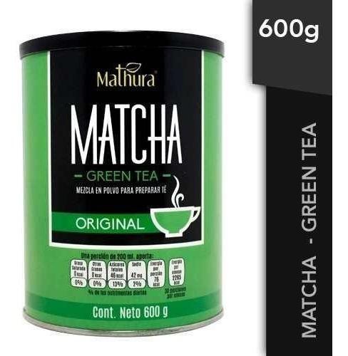 Te Matcha Green Tea 1 Lata De 600g Marca Mathura