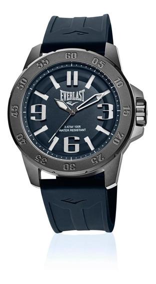 Relógio Masculino Everlast Esporte E699 47mm Silicone Azul