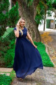 Vestido Feminino Moda Evangélica Longos Madrinha Fabiana
