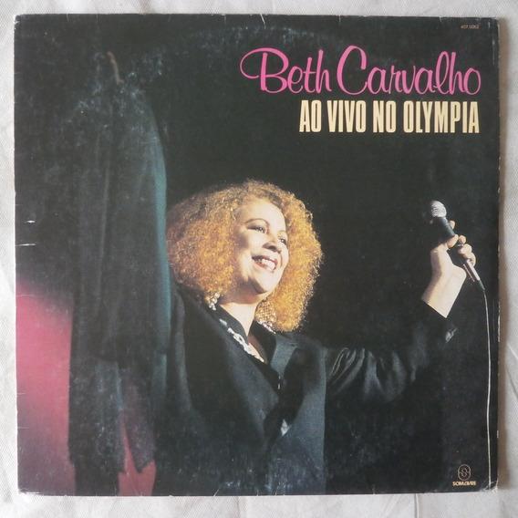 Lp Beth Carvalho 1991 Ao Vivo No Olympia, Vinil Com Encarte
