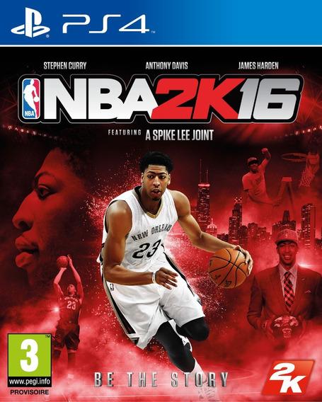 Jogo Nba 2k16 2016 Playstation 4 Ps4 Original Mídia Física