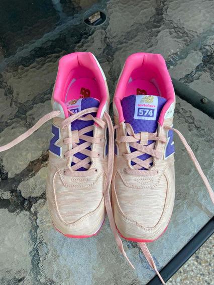 Zapatillas New Balance Modelo 574 Talle Us 7 Sin Uso Nuevas