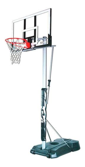 Tablero Acrílico Y Aro Spalding Basketball Altura Regulable