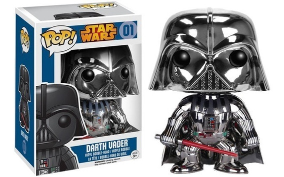 Funko Pop Darth Vader Cromado Edición Especial Star Wars For