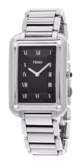 Reloj Fendi Classico Rect Acero Inox Plata Hombre F701011000
