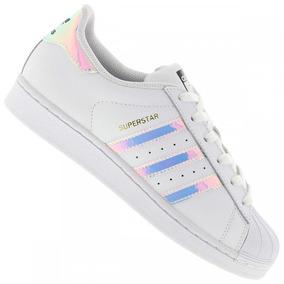 2a241a5f41a Tênis Sapatos adidas Superstar Holográfico Original Até 12x