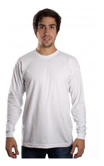 Kit C/ 4 Camisetas Manga Longa Básica Lisa Camisa Blusa