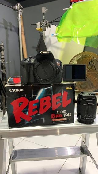 Câmera Profissional Dslr Canon T4i + Acessórios
