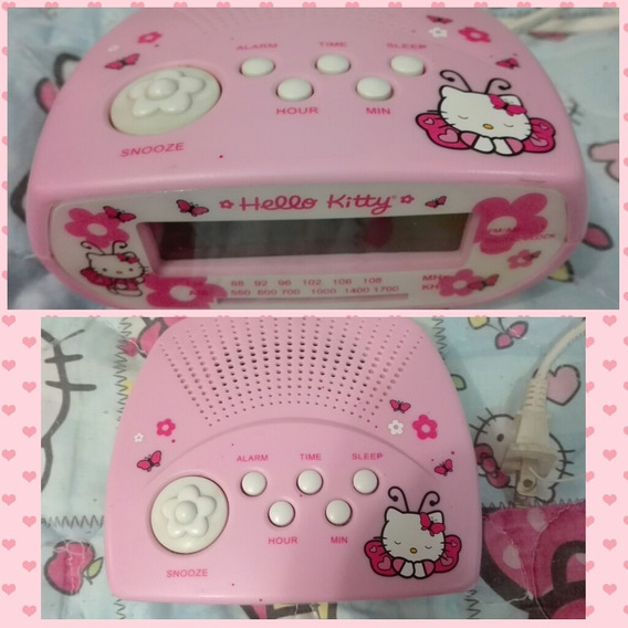 Reloj Radio Am/fm Despertador Hello Kitty