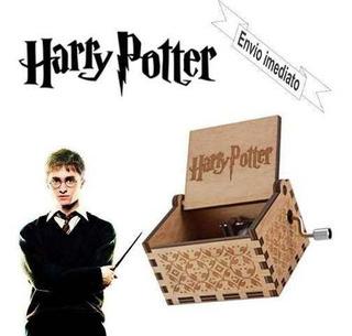 Caixa De Musica Harry Potter. Madeira. Manivela. Hp.
