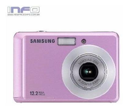 Câmera Digital Samsung A Pilha Rosa