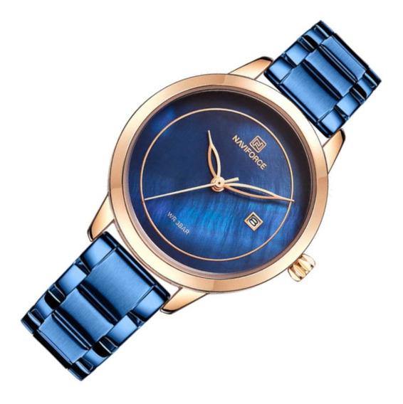 Relógio Feminino Naviforce 5008 Azul Casual