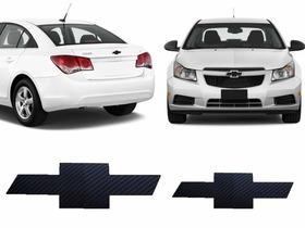 Par Adesivo Emblema Fibra De Carbono Cruze Sedan 09 10 12 15