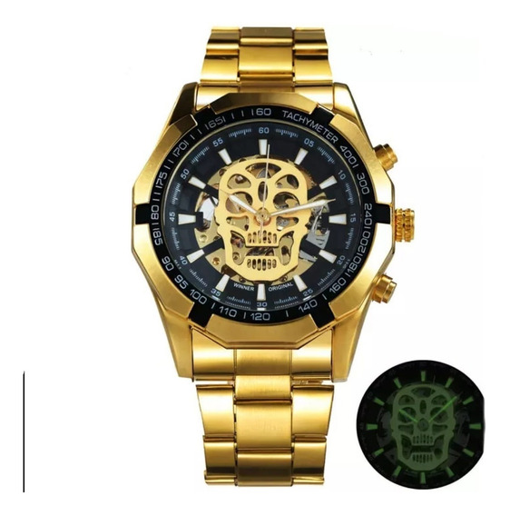 Relógio Caveira T-winner Grandmeiste Skull Watch Automático