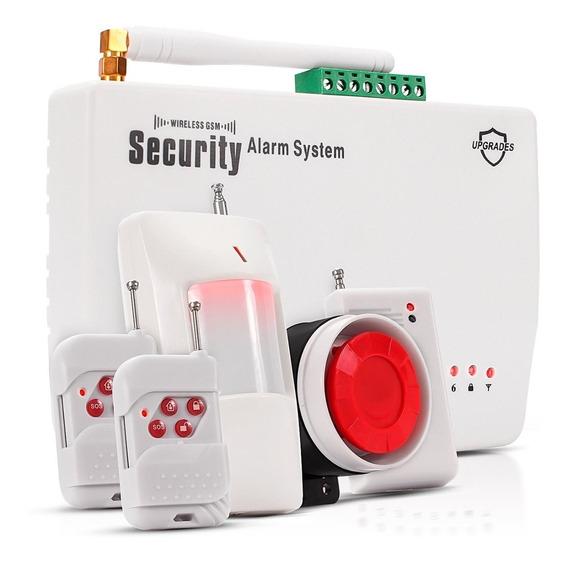 Sistema Alarme Residencial Comercio Sensor Chip Gsm Mensagem