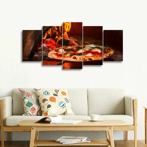 Quadro Mosaico Pizza No Forno Para Restaurantes 125x60