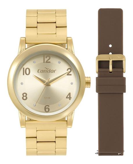 Relógio Condor Feminino Redondo Dourado - Co2035mqo/t8m