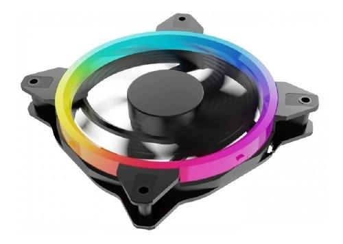 Imagen 1 de 3 de Kit 3 Ventiladores Ocelot Ogpf01 / Gamer / 120mm / Rgb