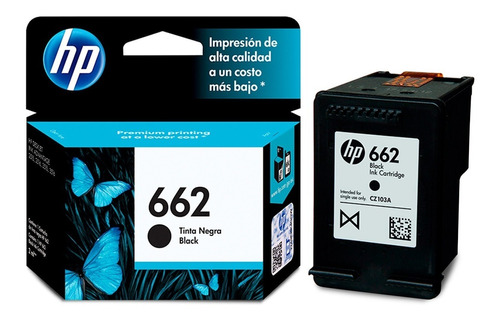 Cartucho Original Hp 662 Negro 1515 / 2645 / 3545- Cs
