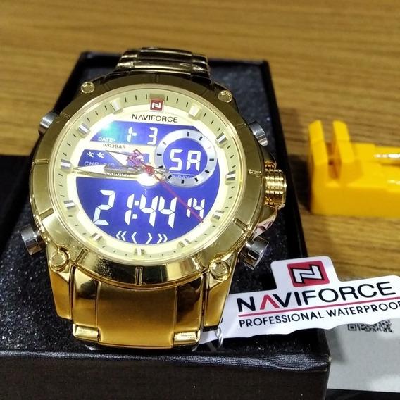 Relógio Masculino Dourado Aprova D