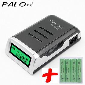 Carregador Pilhas Inteligente Pl-nc05 + 4 Pilhas Aa 3800mah