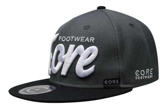 Gorra Snapback Core Footwear Gris/negro