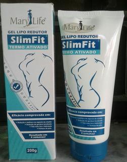 Kit 6 Gel Lipo Redutor Slimfit Termo Ativado 1200g Mary Life