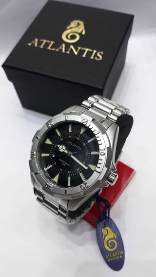 Relógio Masculino Pulso Atlantis Luxo Led