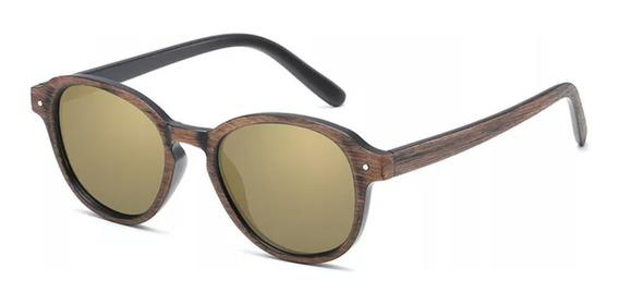 Óculos De Sol Madeira Masculino Feminino Uv400