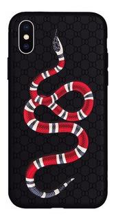 Case Tipo Gucci Serpiente Greca Para iPhone