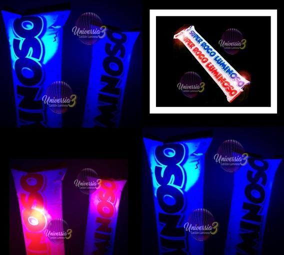10 Super Roco Inflable Led Rompecoco Cotillon Luminoso Combo