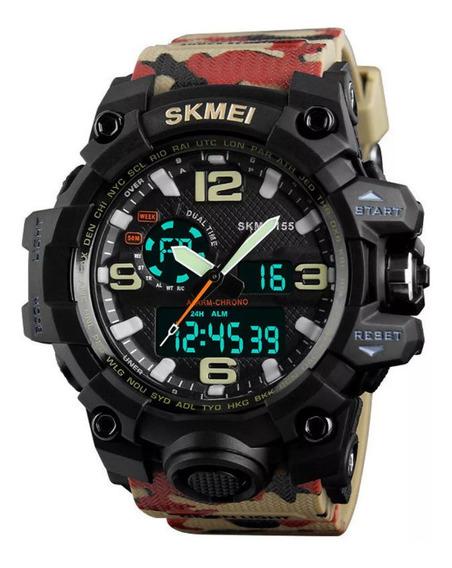 Relógio Esportivo Skmei Camuflado . Top !!!