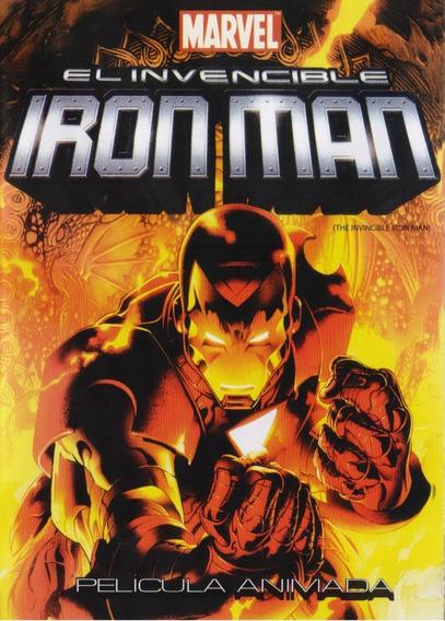 El Invencible Iron Man Pelicula Animada Marvel Dvd