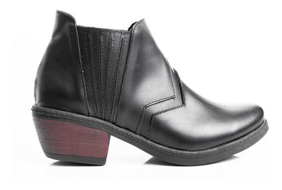 Botas Mujer Zapatos Borcegos Botinetas Texanas Cuero Vacuno