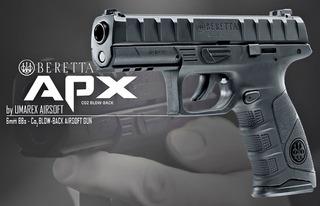 Pistola Beretta Apx Co2 Blowback Postas 4.5mm+ 5co2 Regalo.