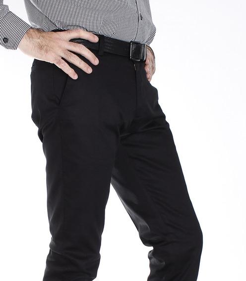 Pantalón Algodón Satinado Con Spandex Corte Entallado