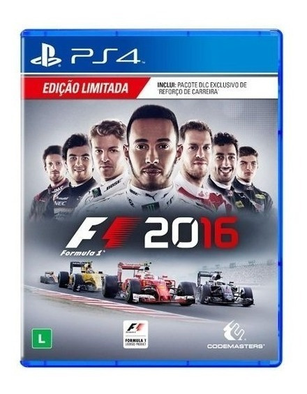 Game Ps4 Fórmula 1 2016 Mídia Física Novo Lacrado