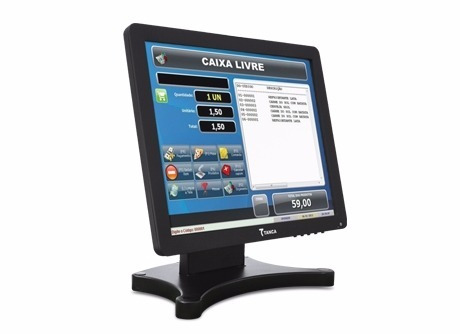 Monitor Touch Screen 15 Tanca Tmt-520 Conexao Usb E Vga