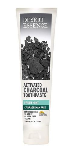 Crema Dental Carbón Activado Y Aceites Esenciales Sin Fluor