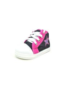 Tênis Infantil Jeans/rosa Cano Alto