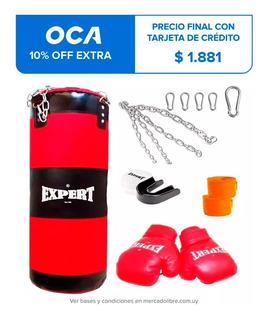 Kit Boxeo Bolsa Completa + Guantes + Bucal + Vendas